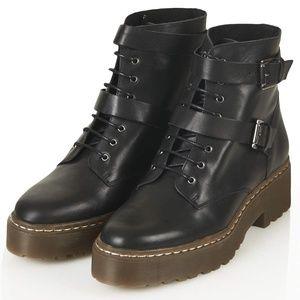 Topshop Platform combat Boots 38